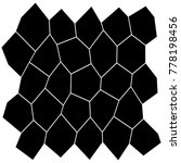 black and white irregular grid  ... | Shutterstock .eps vector #778198456