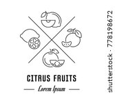 vector logo citrus fruits.... | Shutterstock .eps vector #778198672