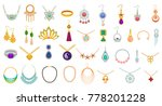 set of jewelry colorful icons... | Shutterstock .eps vector #778201228