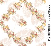 seamless floral pattern with... | Shutterstock .eps vector #778205236