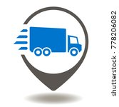 truck map pointer icon vector.... | Shutterstock .eps vector #778206082