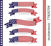 american ribbon   Shutterstock .eps vector #77820709