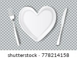 realistic plate in shape of... | Shutterstock .eps vector #778214158