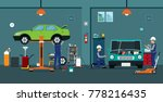 employees are checking and... | Shutterstock .eps vector #778216435