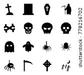 origami style icon set   grave...   Shutterstock .eps vector #778216702