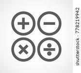 basic mathematical symbols in... | Shutterstock .eps vector #778219942