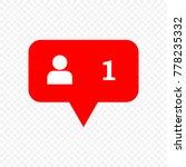 follow vector icon | Shutterstock .eps vector #778235332