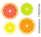 set of slices of different... | Shutterstock .eps vector #778239766