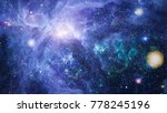 planet in space with sun flash. ... | Shutterstock . vector #778245196