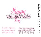 happy valentines day  font.... | Shutterstock .eps vector #778247272