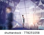 blurry businesspeople standing... | Shutterstock . vector #778251058