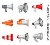 megaphone vector bullhorn... | Shutterstock .eps vector #778252042