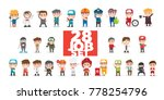 all technician set.kids vector...   Shutterstock .eps vector #778254796