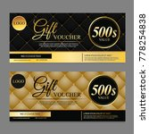 voucher template with gold and... | Shutterstock .eps vector #778254838