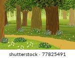 forest | Shutterstock .eps vector #77825491