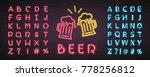 beer glasses cheers neon light...   Shutterstock .eps vector #778256812