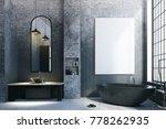 modern loft bathroom interior... | Shutterstock . vector #778262935