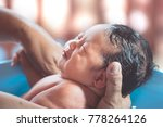 cute asian newborn baby girl... | Shutterstock . vector #778264126