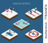 winter sport isometric people... | Shutterstock .eps vector #778264876