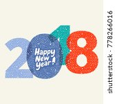 happy new year  greeting card ... | Shutterstock .eps vector #778266016