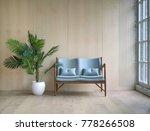 spacious wooden living room...   Shutterstock . vector #778266508