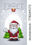 vector santa claus portrait as... | Shutterstock .eps vector #778269172