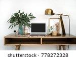 interior of a cozy feminine... | Shutterstock . vector #778272328