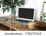 interior of a cozy feminine... | Shutterstock . vector #778273765