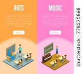 arts and music lessons at... | Shutterstock .eps vector #778275868
