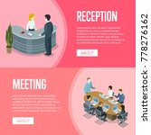 company reception stand and... | Shutterstock .eps vector #778276162