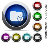 unknown directory icons in... | Shutterstock .eps vector #778277002