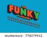 vector of retro bold font and... | Shutterstock .eps vector #778279912