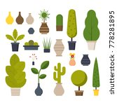 home room and office plants in... | Shutterstock .eps vector #778281895