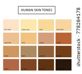 human skin tone set. skin color ... | Shutterstock .eps vector #778284178