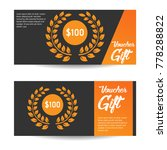 voucher gift template design | Shutterstock .eps vector #778288822