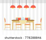 dining table with bottle of... | Shutterstock .eps vector #778288846