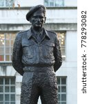 Small photo of LONDON - DEC 12, 2017: Statue of Field Marshal Bernard Law Montgomery, 1st Viscount Montgomery of Alamein, nicknamed Monty and the Spartan General