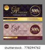 voucher template with dark... | Shutterstock .eps vector #778294762