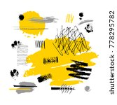 abstract poster trendy art...   Shutterstock .eps vector #778295782