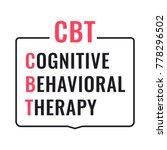 cbt or cognitive behavioral...   Shutterstock .eps vector #778296502