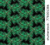 winter plant fir tree pine... | Shutterstock . vector #778301386