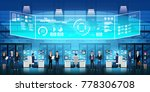 cloud data center server room... | Shutterstock .eps vector #778306708