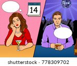 lonely people on saint... | Shutterstock .eps vector #778309702