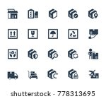 logistics  shipping and... | Shutterstock .eps vector #778313695