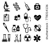 set of medical and health icons.... | Shutterstock .eps vector #778314136