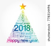 2018 happy new year in... | Shutterstock . vector #778314496