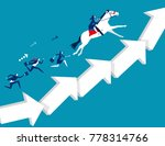 business team moving up arrow... | Shutterstock .eps vector #778314766