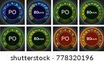 seasonal image of a speedometer ... | Shutterstock .eps vector #778320196