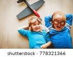 happy kids with helmet and... | Shutterstock . vector #778321366