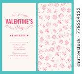 happy valentines day light... | Shutterstock .eps vector #778324132
